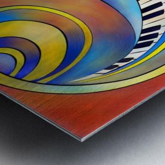 Redemessia - spiral piano Metal print