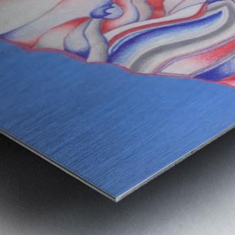 the color of Rain Metal print