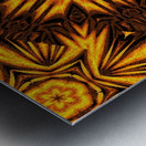 Golden Dandelion Metal print