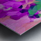 psychedelic geometric polygon pattern abstract in pink purple green Metal print