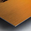 Red Deer Stag Silhouette Metal print