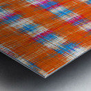 plaid pattern abstract texture in orange blue pink Metal print