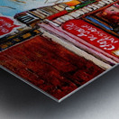 PATISSERIE CHEZ DEGAULLE MONTREAL WINTER STREET SCENE  Metal print