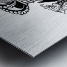 monogram crown  3 Metal print