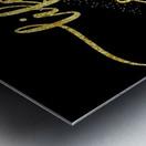 TEXT ART GOLD Life is sweet  Metal print