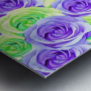 purple rose and green rose pattern abstract background Metal print