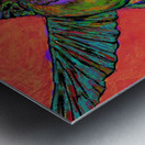 HUMMINGBIRD ON ORANGE Metal print
