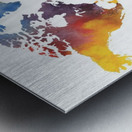 Colorful Map Of The World Watercolor Metal print