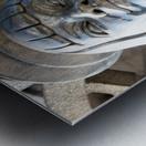 Silver Statue Face of Anna May Wong Metal print