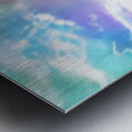 blue cloudy sky on the road with colorful bokeh light abstract Metal print