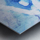 blue abstract marble Metal print