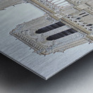 Notre Dame & Details Metal print