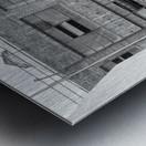 B&W Brick & Windows In Alley - DTLA  Metal print