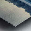 crystal ball on frozen lake Metal print