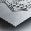 BoCoMo Courthouse  Metal print