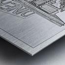 Broadway Diner Metal print