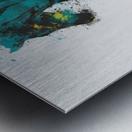Running Metal print
