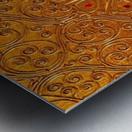Golde pattern Metal print