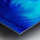 Abstract blue Metal print
