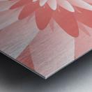 Spiral Flower Pattern Art Metal print