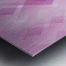 Diamond Shape Pink Art Metal print