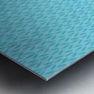 Blue Leaf pattern Art Metal print