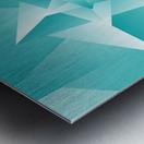Bluish Trendy Triangle Art Metal print