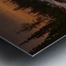Golden sunset  Metal print