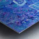 Blue Colab. Arts Education Artist Metal print