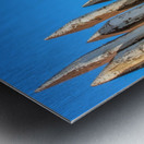 WOODEN PILLARS Metal print