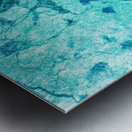 Turquoise Marble Metal print