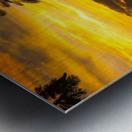 Fire in the sky Metal print