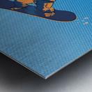 snowboard highfive Metal print