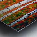 Funky Fall Birch Metal print