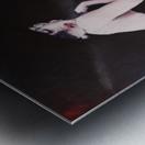 Marilyn black sitting 2 Metal print