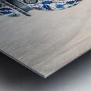 Blue and white vase  Metal print