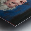 Marilyn in CHANEL 5 oil painting portrait 1 Metal print