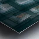 Glass lines 1 triptych Metal print