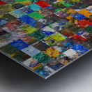 The Wall of Random Bricks Metal print