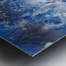 Angel in Space Tunnel Metal print