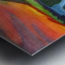 Mountain And Waterfall In The Rays Of The Setting Sun Metal print