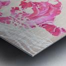Pink Rose Petals Watercolor Map Of The World Metal print