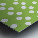 Dark Olive Green Polka Dots Metal print
