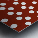 Crimson Polka Dots Metal print