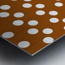 RUST Polka Dots Metal print