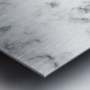 ABSTRACT MODERN ORANGE MARBLE Metal print