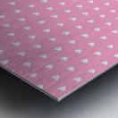Carnation Pink Heart Shape Pattern Metal print