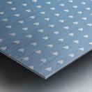 Blue Grey Heart Shape Pattern Metal print