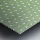 Green Blush Heart Shape Pattern Metal print