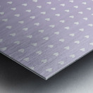 Spring Purple Heart Shape Pattern Metal print